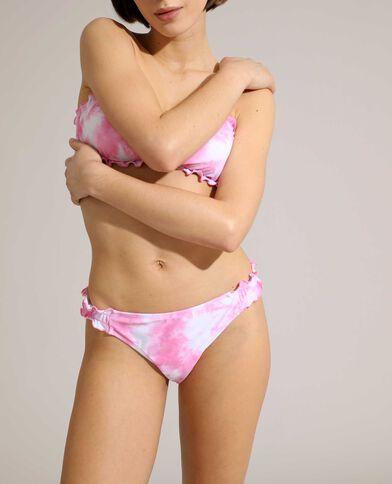 Bas de maillot culotte tie and dye rose - Pimkie