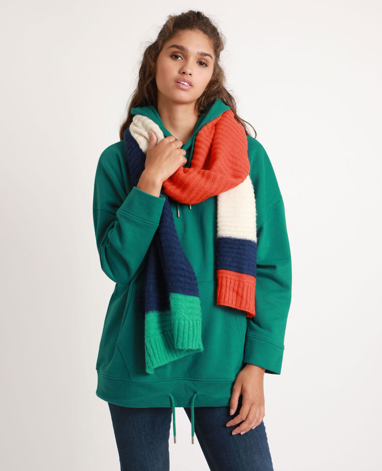 Gestreepte sjaal groen