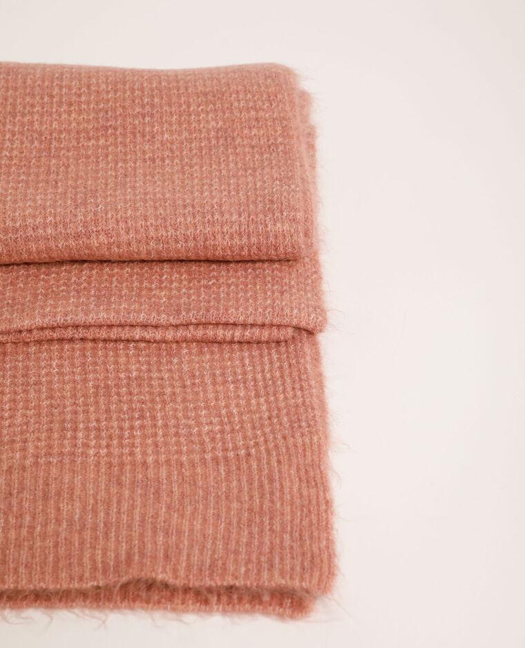 Echarpe gaufrée rose poudré - Pimkie