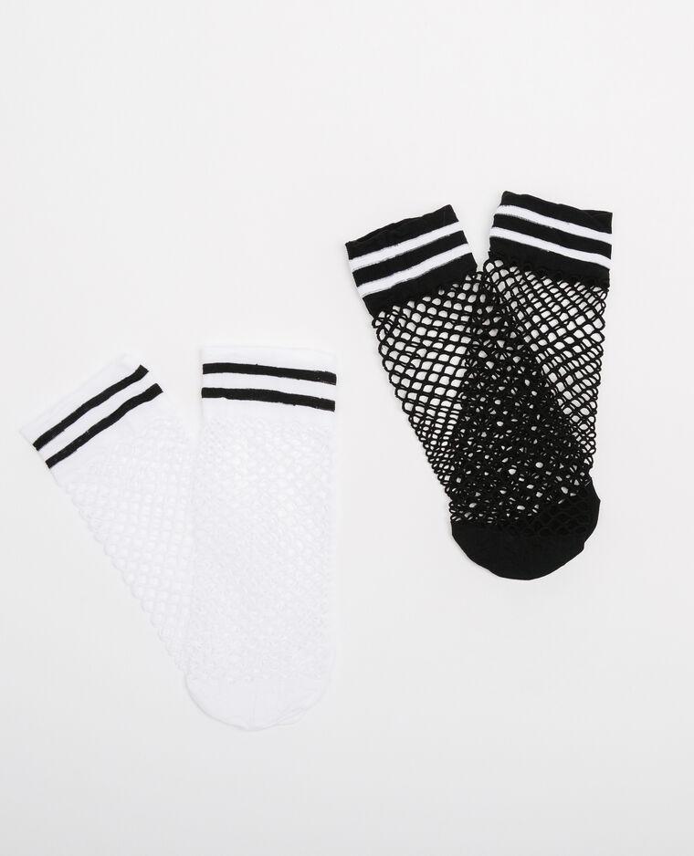 Lot de chaussettes résille gris