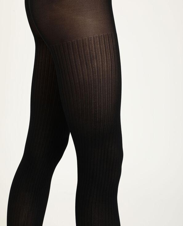 Gestreepte panty's zwart