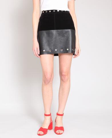 Korte rok met studs zwart