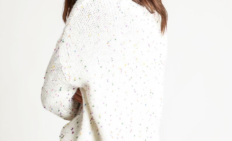 Pull multicolore blanc