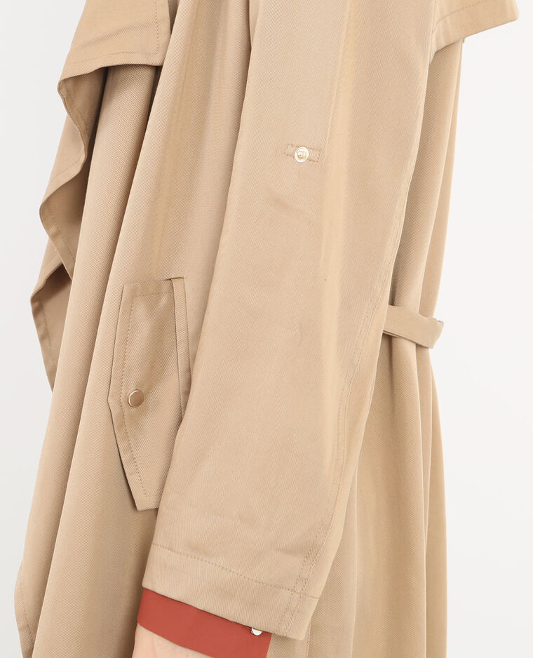 Trench long caramel