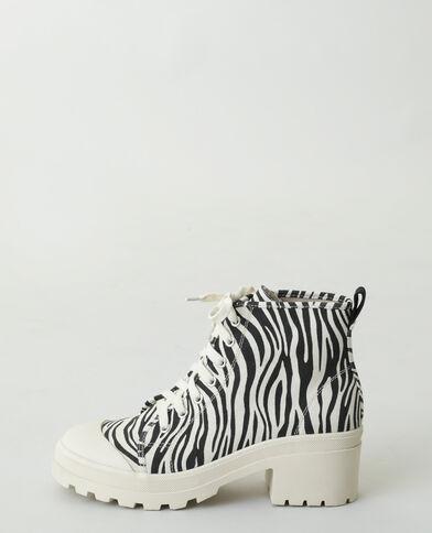 Hoge sneakers met zebrastrepen beige - Pimkie