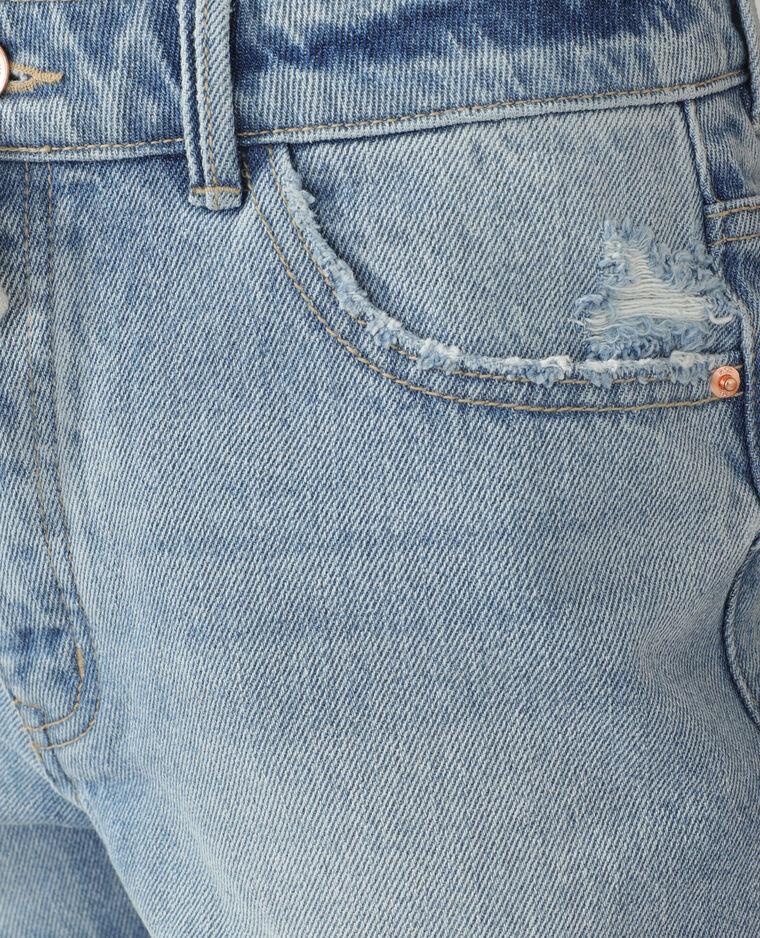 Jeansshort met destroyed effect Lichtblauw - Pimkie