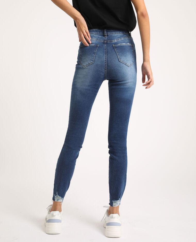 Jean skinny high waist bleu