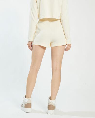 Short gaufré blanc - Pimkie