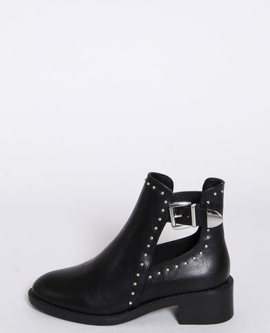 Laarzen uit kunstleer zwart
