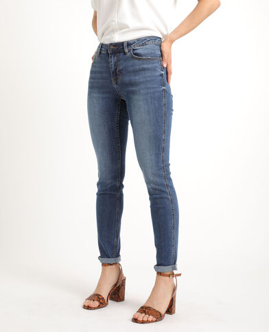 Jean push up mid waist bleu brut