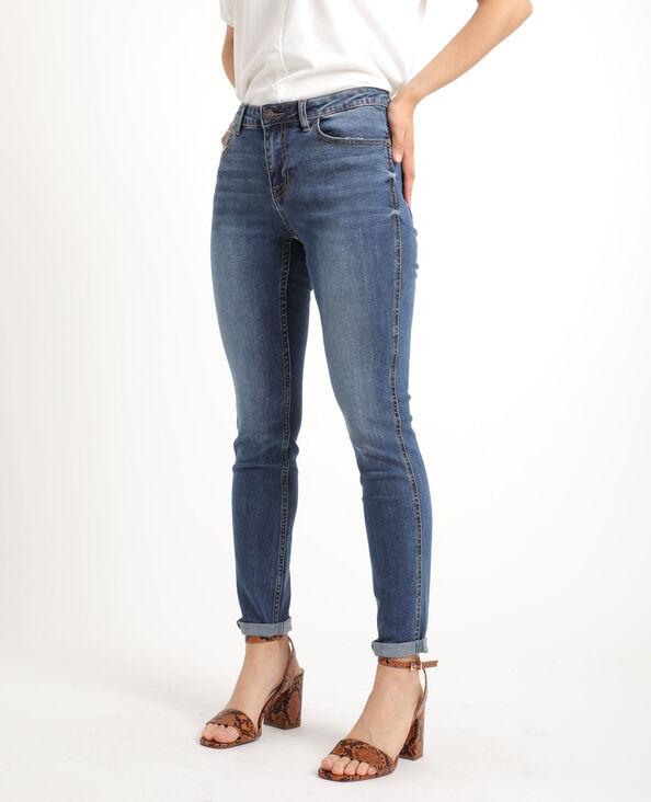 Push-up jeans met middelhoge taille donkerblauw