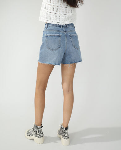 Short en jean destroy bleu denim - Pimkie