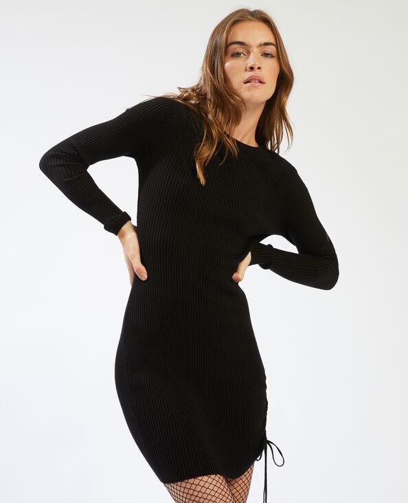 Robe pull à manches longues noir - Pimkie