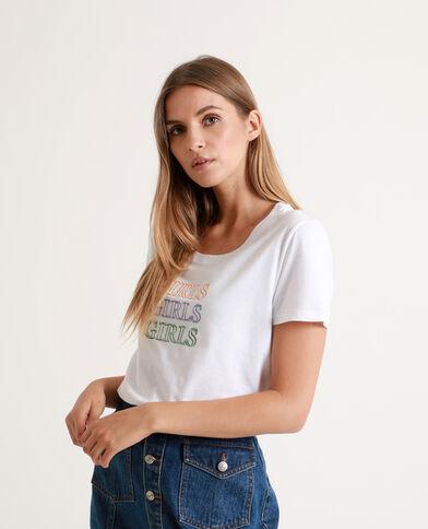 Tee-shirt Girls blanc cassé