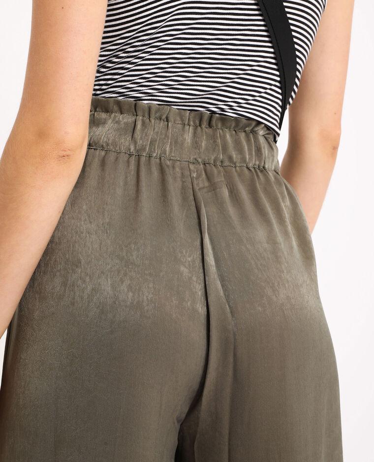 Pantalon large kaki