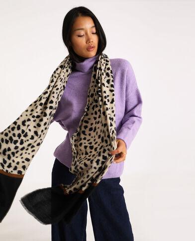 Sjaal met luipaardmotief bruin
