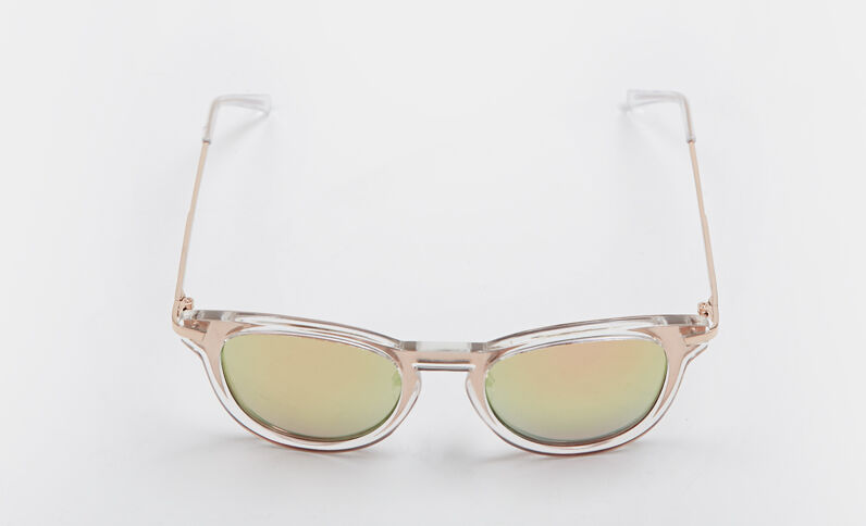 Zonnebril met spiegeleffect wit