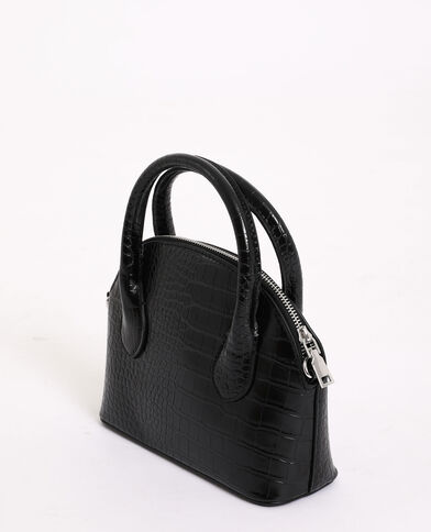 Tas in halvemaanvorm zwart