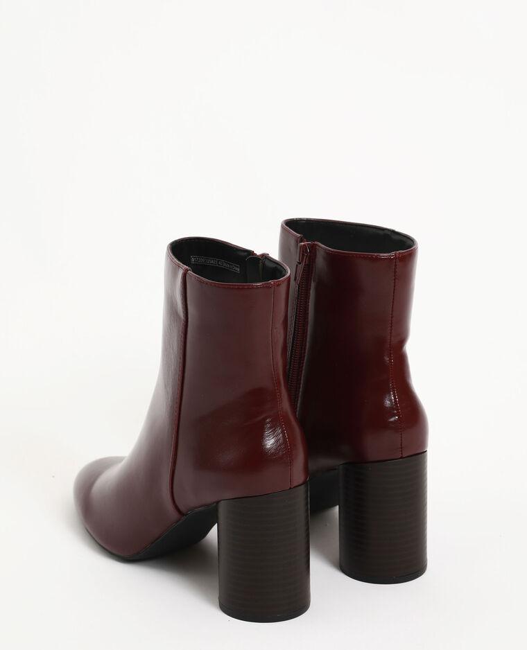 Boots à talon grenat