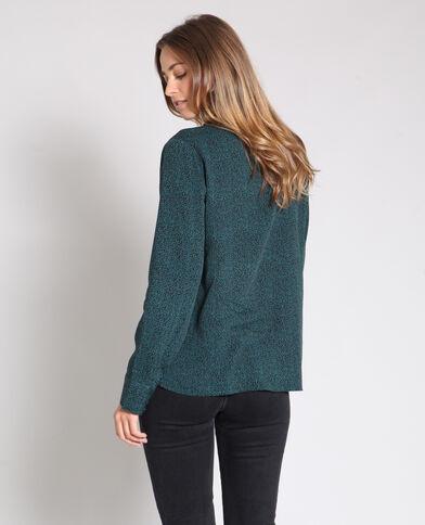 Bedrukt hemd groen