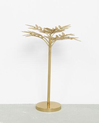 Decoratief palmboompje van metaal goudkleurig