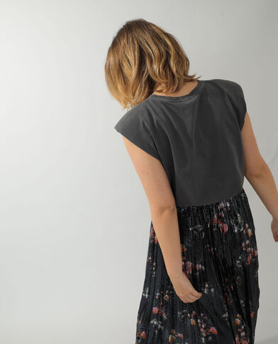 T-shirt à épaulettes gris - Pimkie