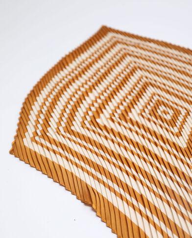 Geplooide foulard camel