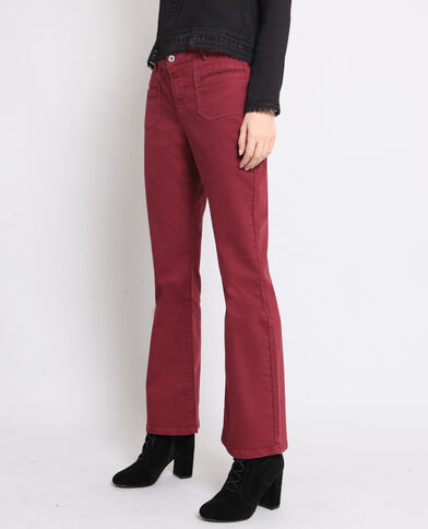 Pantalon flare bordeaux