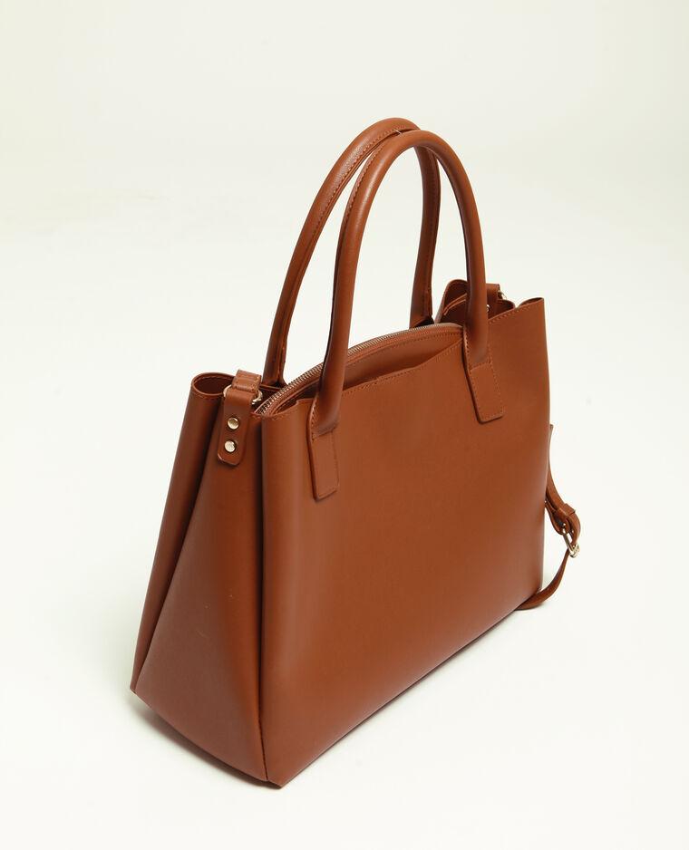 Grand sac en simili cuir caramel