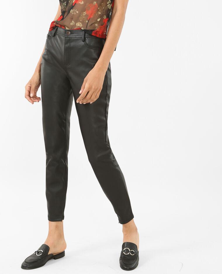 Pantalon en simili cuir noir - 140368899A08   Pimkie 45926bd31fc5