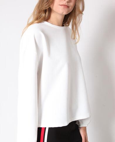 Oversized sweater gebroken wit