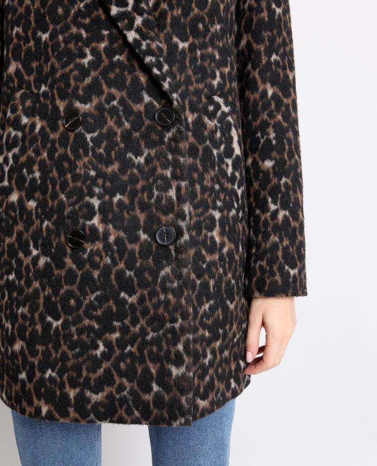 Manteau léopard noir
