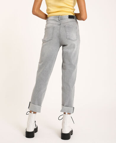 Straight-fit jeans grijs