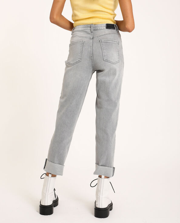Straight-fit jeans grijs