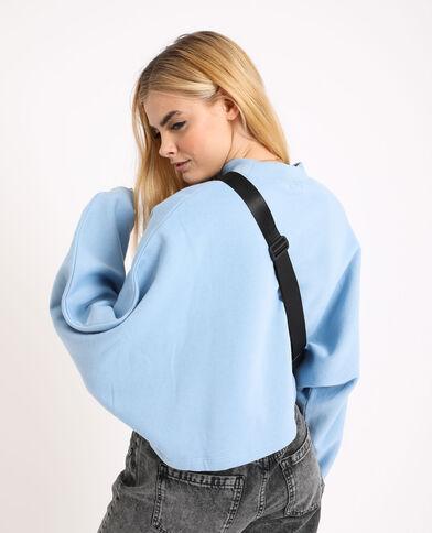 Korte sweater blauw