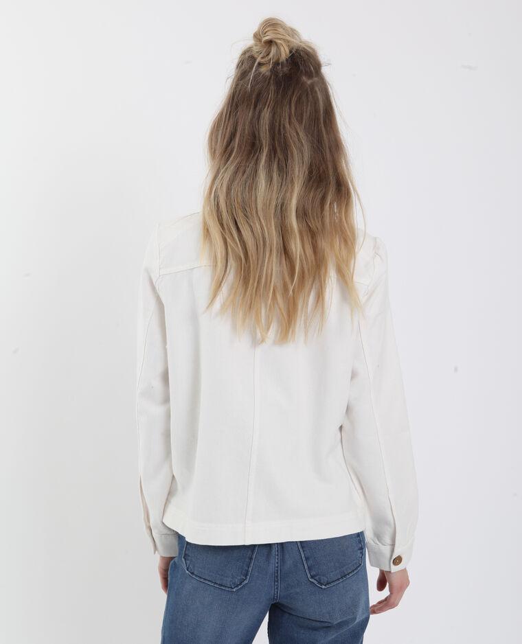 Veste légère blanc cassé