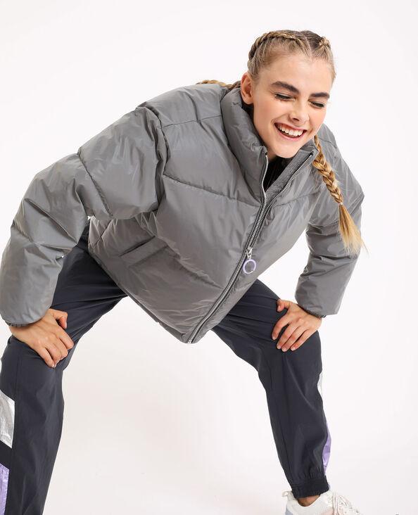 Oversized donsjas grijs