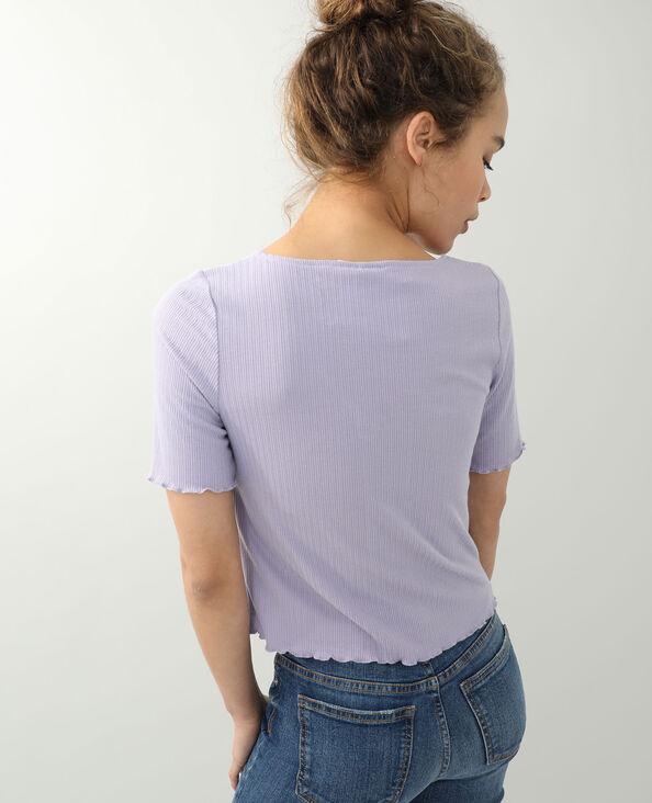 Top met veter violet