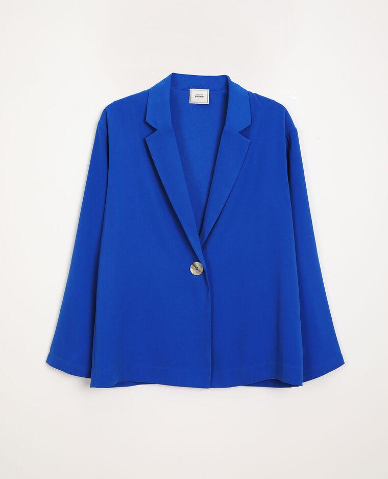 Wijde blazer blauw