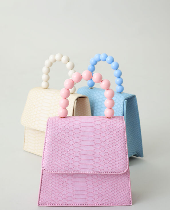 Handtas met kralen roze - Pimkie