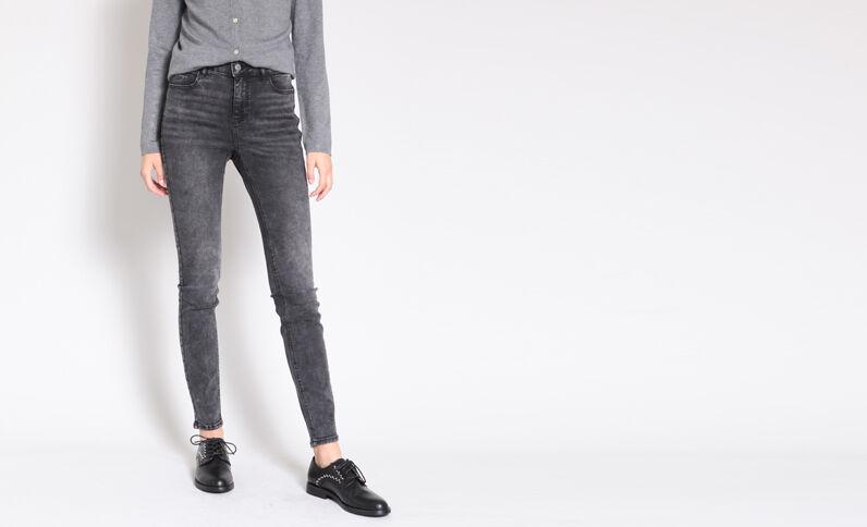 Push-up jeans grijs