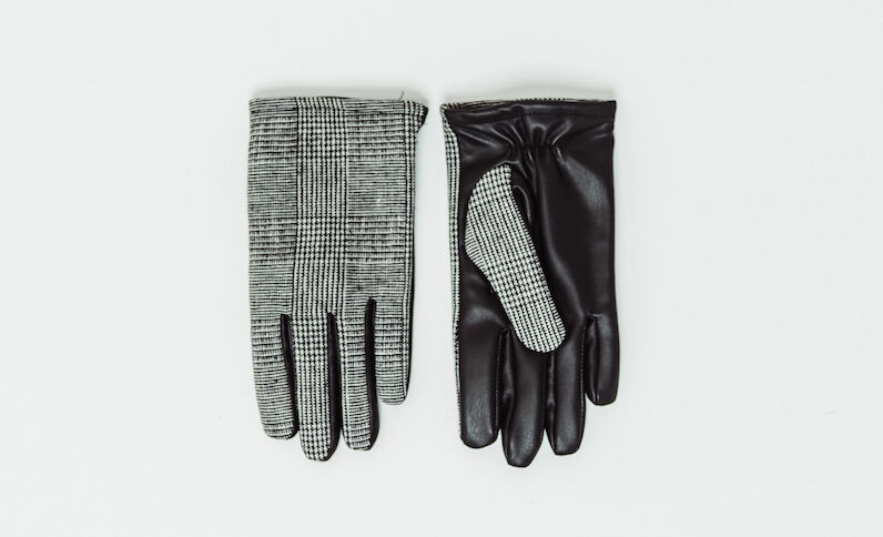 Bedrukte handschoenen zwart