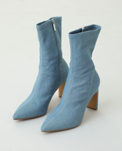 Bottines en jean bleu