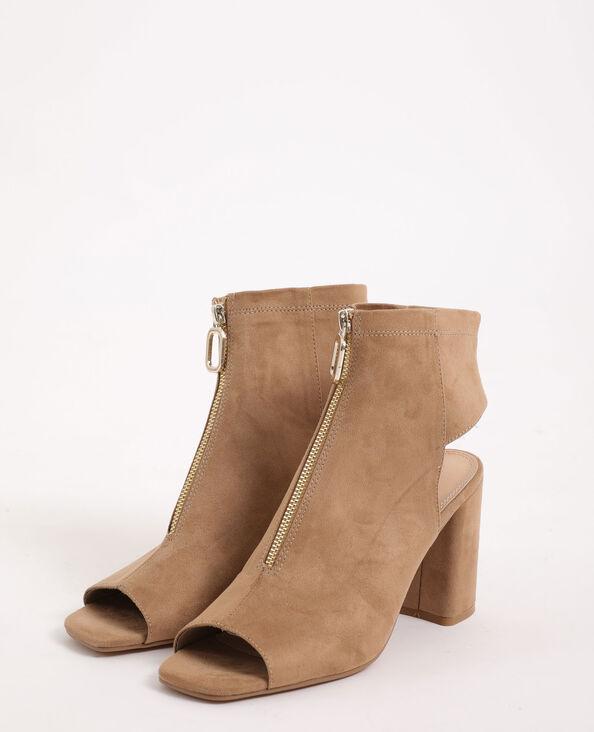Sandales zippées marron