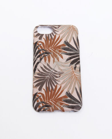 Coque compatible iPhone palmiers beige