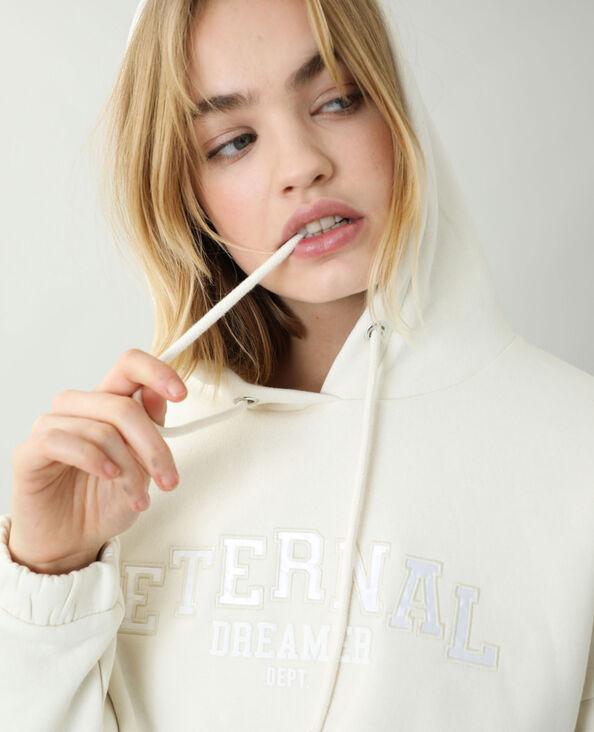 Korte moltonsweater met kap beige - Pimkie