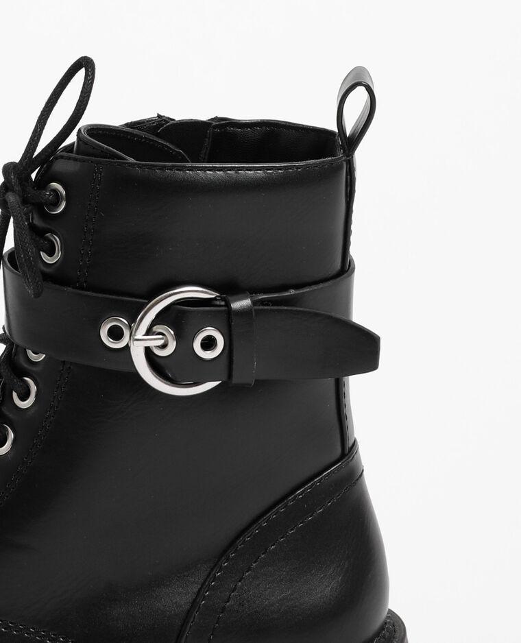 Laarzen met veters zwart