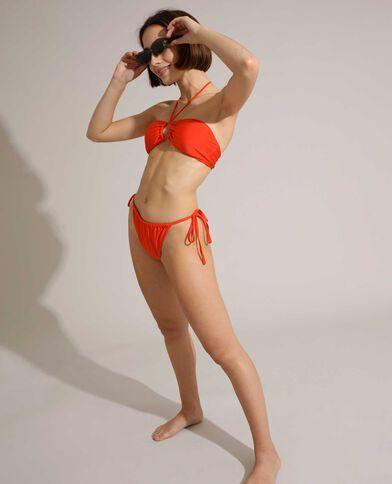 Aanpasbare bikinislip oranje - Pimkie