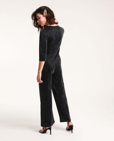 Combi-pantalon à paillettes noir