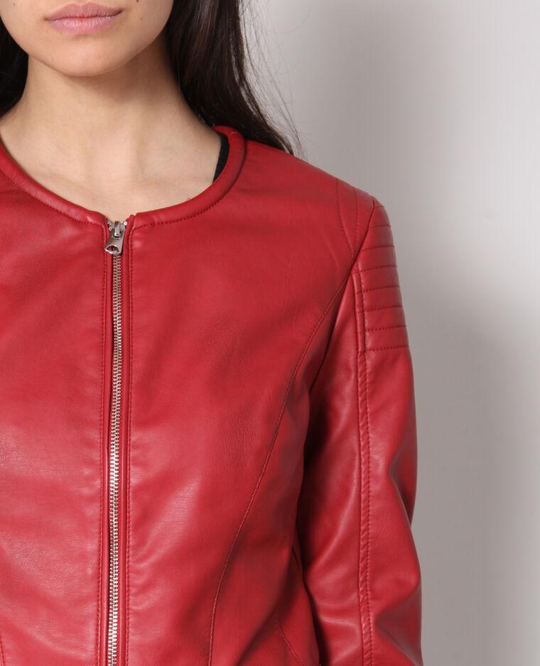 veste en simili cuir rouge 323298342a03 pimkie. Black Bedroom Furniture Sets. Home Design Ideas